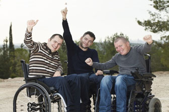individuals in wheelchairs