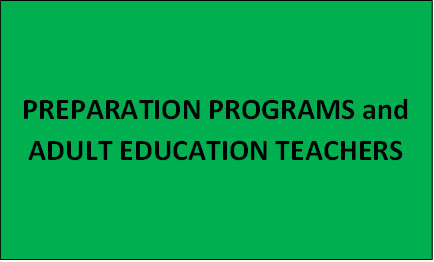 Preparation Programs and Adult Education Teachers