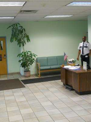 Bronx DO reception area