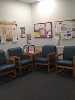Rochester waiting area