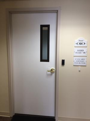 Picture of inside door of ACCES VR Johnstown Office