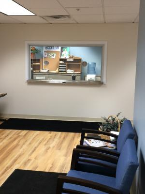 Reception area of ACCES VR Johnstown Office