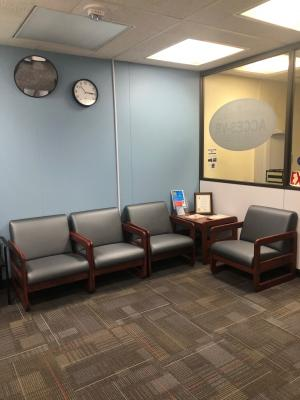 Utica waiting area